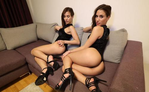 Porn With Twins Sexy Nikky And Kitty Sex Threesome 2019.