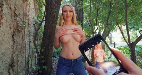 Sex In Public With A Beautiful Blonde With Natural Tits 2019 HD.