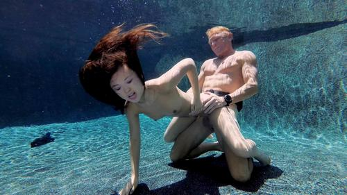 Amazing Hot Petite Asian Teen SexUnderwater Hardcore Sex HD.