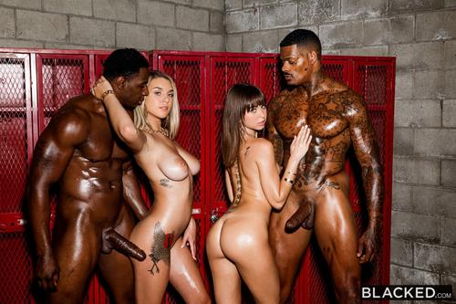Two Stunning Hot Girls Fucked By Two Big Black Cock HD.