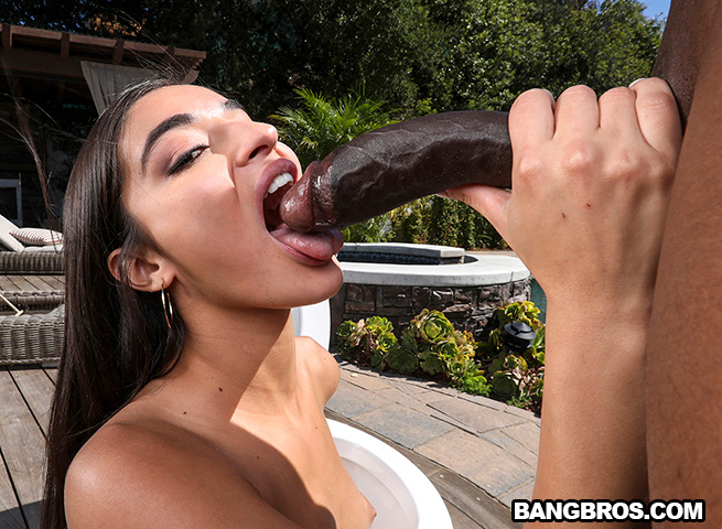 Beautiful Brunette Teen Fuck A Huge Black Cock HD.