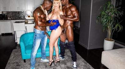Super Hot Milf Fucked Hard By Two Big Black Cock HD.