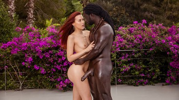Beautiful RedHair Teen Fuck First Huge Black Cock.