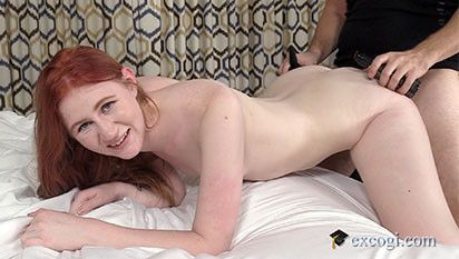 Very Hot Red Hair Amateur In Her First Sex Scene.