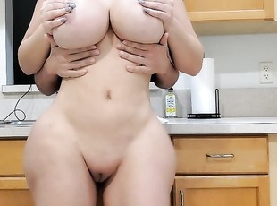 Big Tits And Ass Amateur Fuck Boyfriend In The Kitchen.