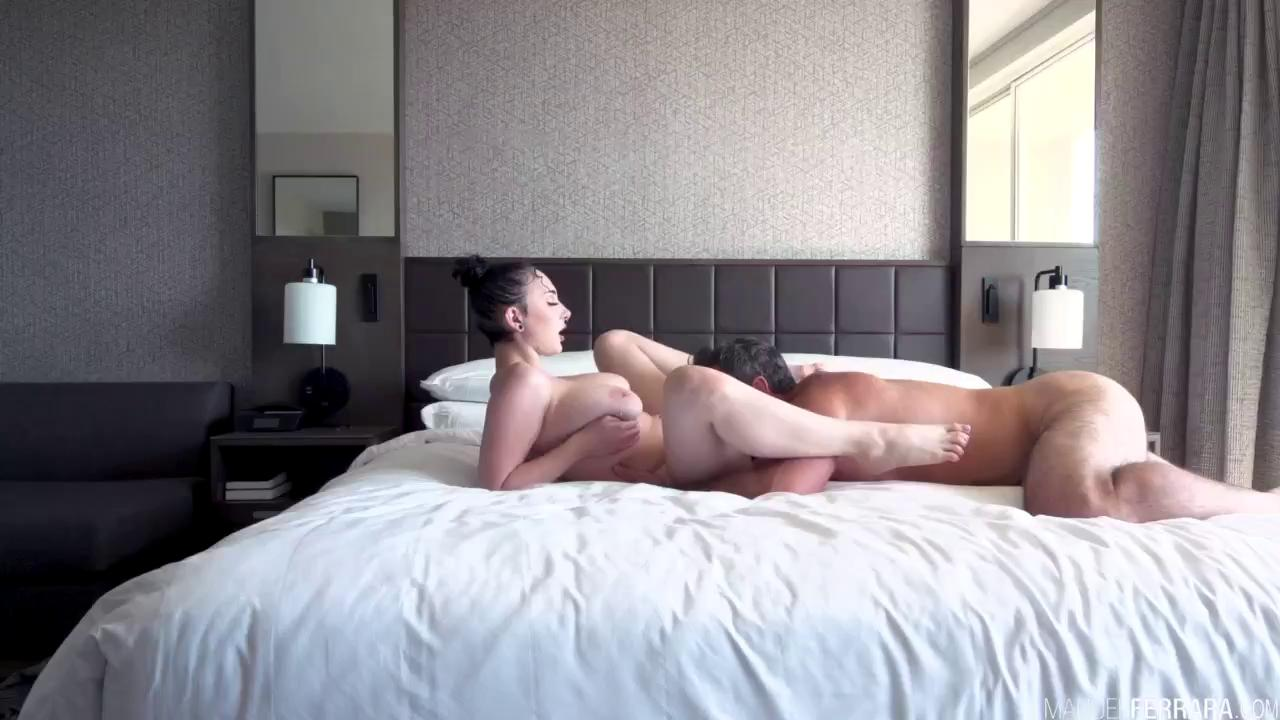 Amazing Big Natural Tits And Ass Girl Fucks A Huge Cock.