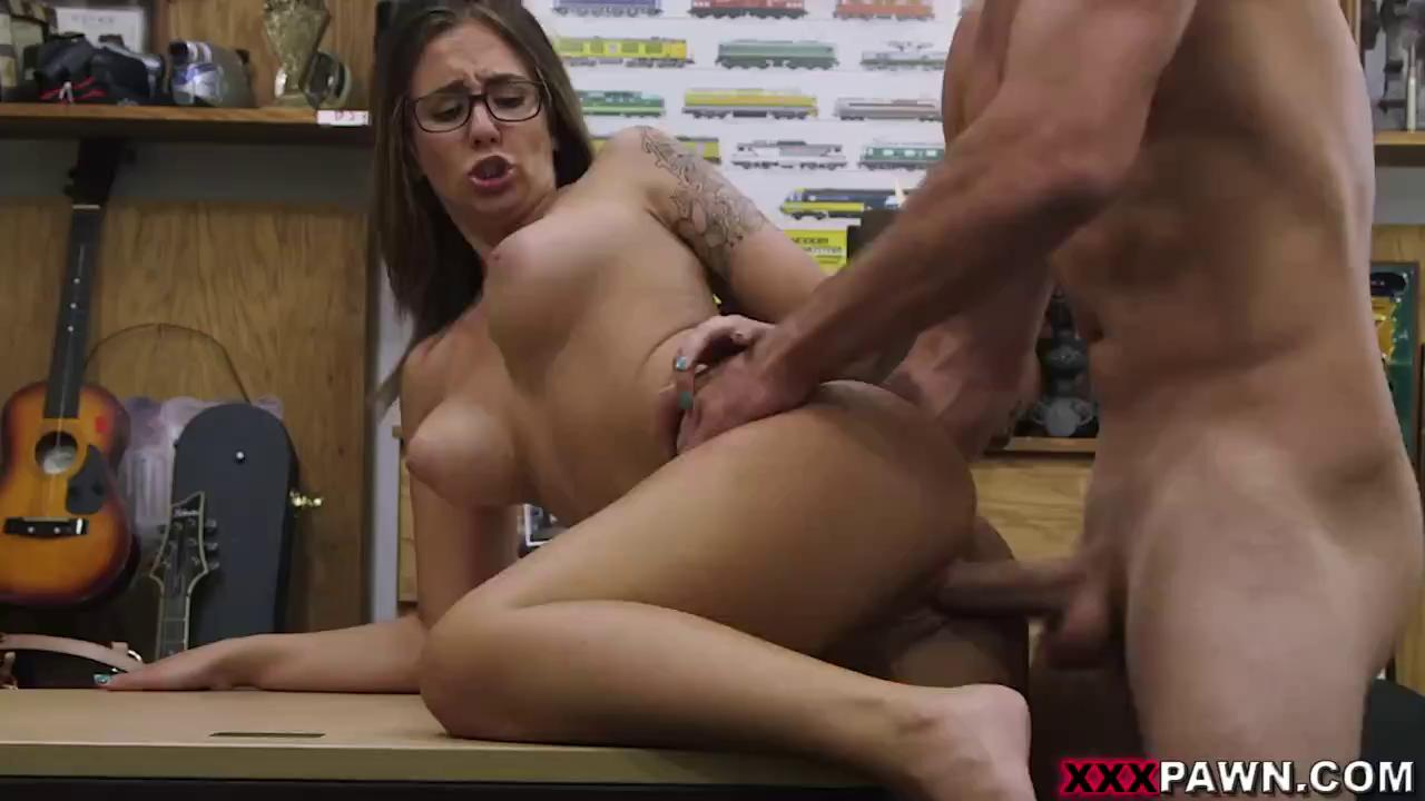 Stunning Hot Big Tits Girl Fucks Hard A Huge Cock.